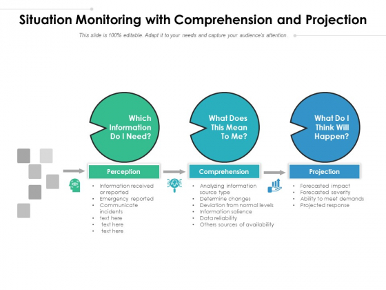 Situation Monitoring With Comprehension And Projection Ppt PowerPoint Presentation Professional Styles PDF