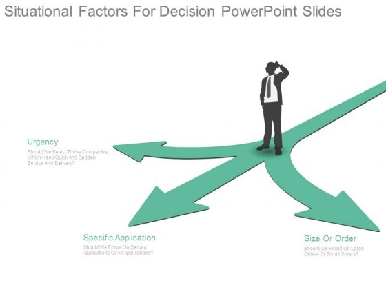 Situational Factors For Decision Powerpoint Slides