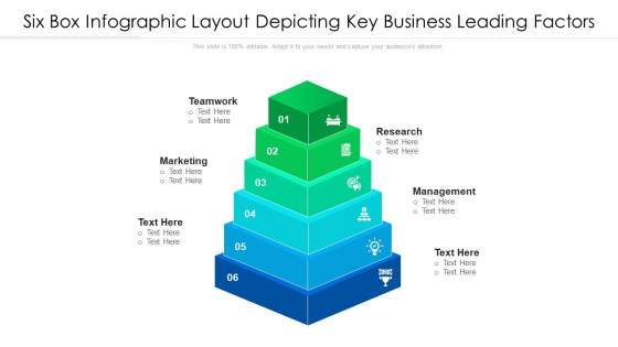 Six Box Infographic Layout Depicting Key Business Leading Factors Ppt PowerPoint Presentation Gallery Grid PDF