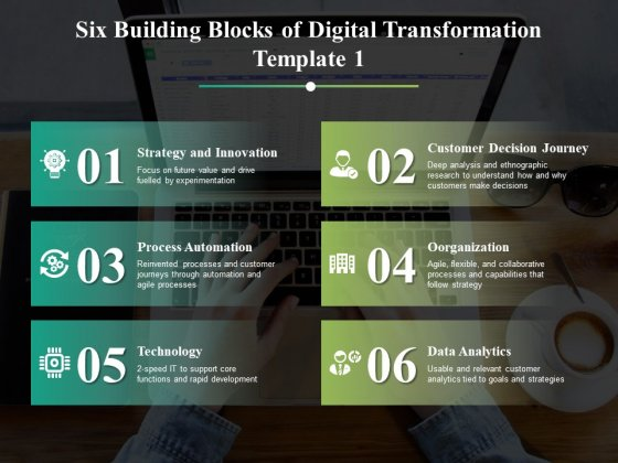 Six Building Blocks Of Digital Transformation Ppt PowerPoint Presentation Images