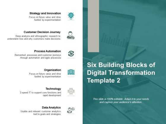 Six Building Blocks Of Digital Transformation Process Automation Ppt PowerPoint Presentation Ideas Infographics