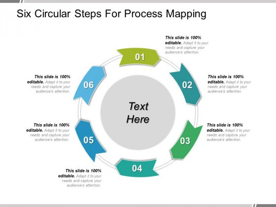 six circular steps for process mapping ppt powerpoint presentation