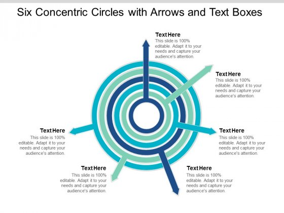 Six Concentric Circles With Arrows And Text Boxes Ppt Powerpoint Presentation Infographic Template Gridlines