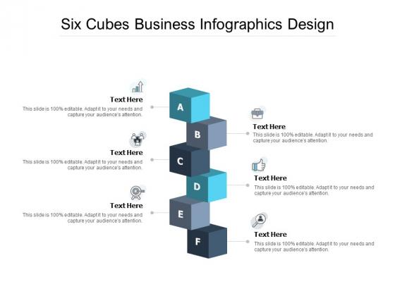 Six Cubes Business Infographics Design Ppt PowerPoint Presentation Outline Ideas