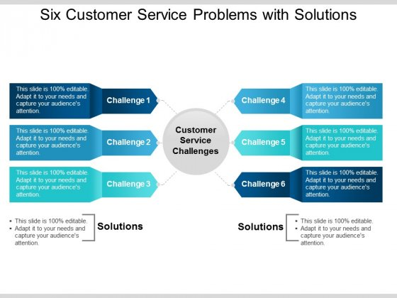Six Customer Service Problems With Solutions Ppt PowerPoint Presentation Infographics Background Images
