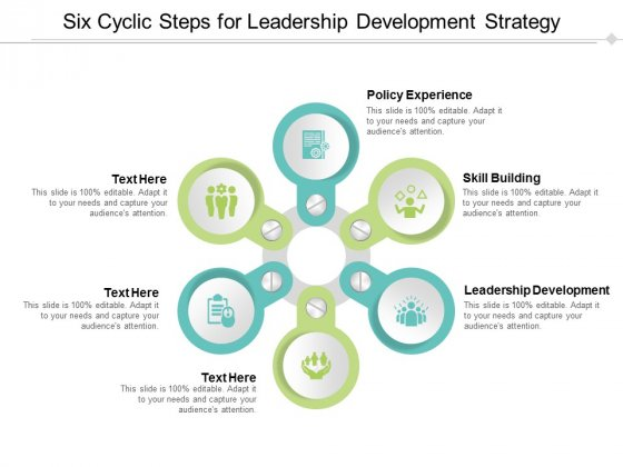 Six Cyclic Steps For Leadership Development Strategy Ppt Powerpoint Presentation Summary Icon