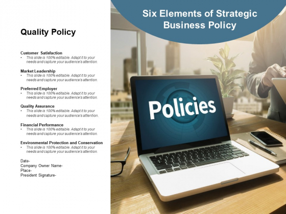Six Elements Of Strategic Business Policy Ppt PowerPoint Presentation Tips