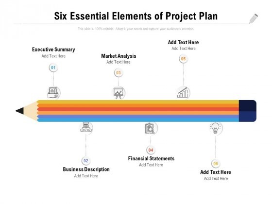 Six Essential Elements Of Project Plan Ppt PowerPoint Presentation Layouts Aids