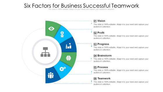 Six Factors For Business Successful Teamwork Ppt PowerPoint Presentation File Guide PDF