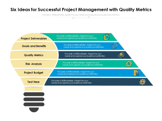Six Ideas For Successful Project Management With Quality Metrics Ppt PowerPoint Presentation Model Template PDF