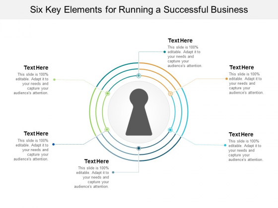 Six Key Elements For Running A Successful Business Ppt Powerpoint Presentation Inspiration Graphics Template