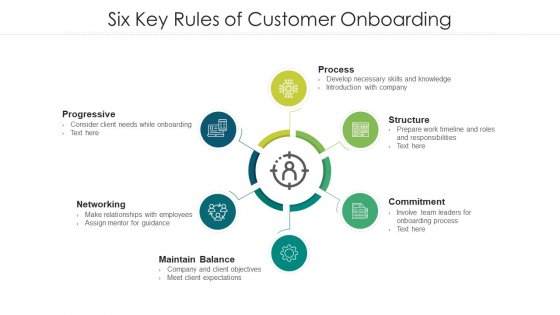 Six Key Rules Of Customer Onboarding Ppt Infographics Example Introduction PDF