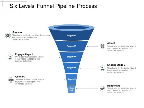 Six Levels Funnel Pipeline Process Ppt PowerPoint Presentation Infographics Smartart