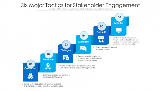 Six_Major_Tactics_For_Stakeholder_Engagement_Ppt_Infographic_Template_Layout_PDF_Slide_1