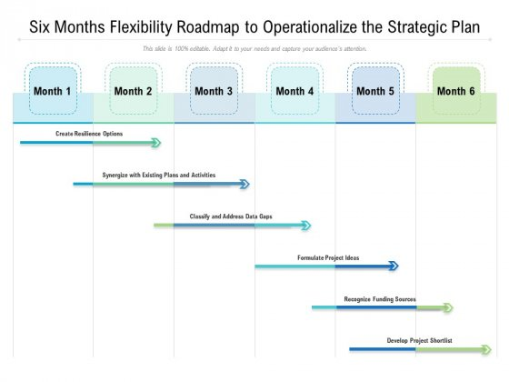Six Months Flexibility Roadmap To Operationalize The Strategic Plan Formats