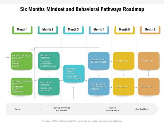 Six Months Mindset And Behavioral Pathways Roadmap Diagrams
