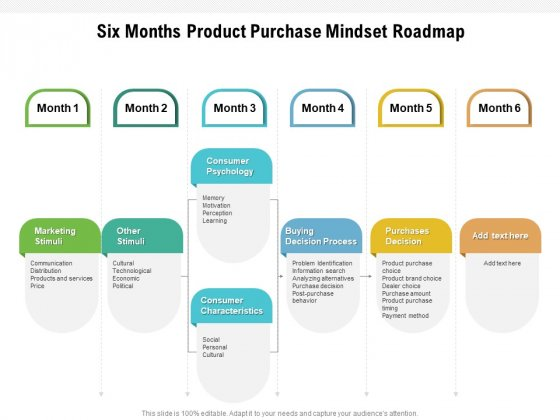 Six Months Product Purchase Mindset Roadmap Inspiration