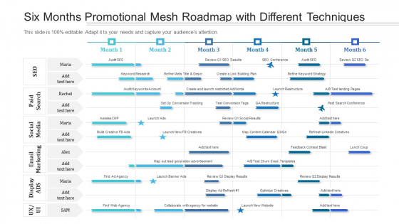 Six Months Promotional Mesh Roadmap With Different Techniques Introduction