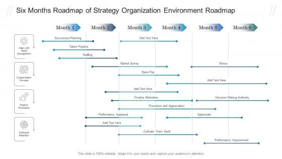 Six_Months_Roadmap_Of_Strategy_Organization_Environment_Roadmap_Graphics_PDF_Slide_1