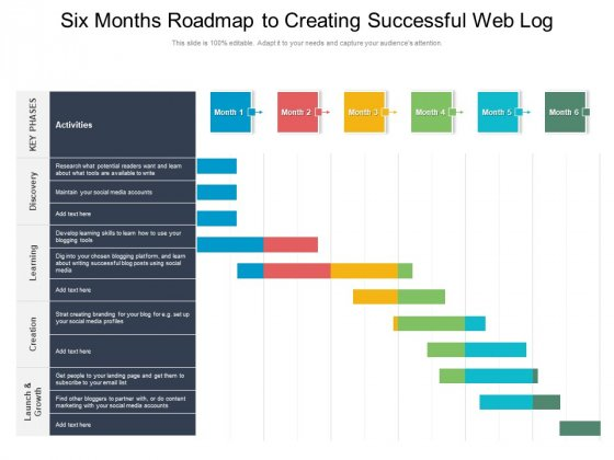 Six Months Roadmap To Creating Successful Web Log Brochure