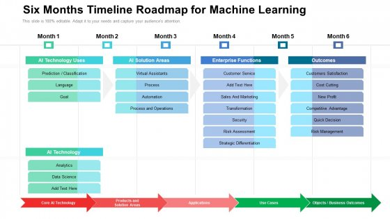 Six_Months_Timeline_Roadmap_For_Machine_Learning_Introduction_Slide_1