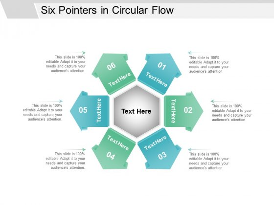 Six Pointers In Circular Flow Ppt Powerpoint Presentation Icon Examples