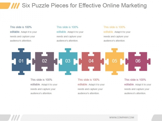 Six Puzzle Pieces For Effective Online Marketing Ppt PowerPoint Presentation Picture