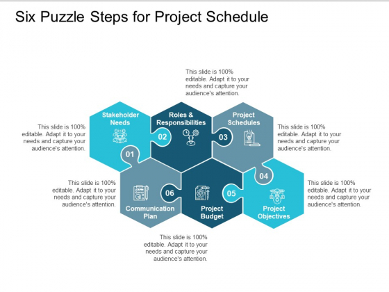 Six Puzzle Steps For Project Schedule Ppt PowerPoint Presentation Gallery Example