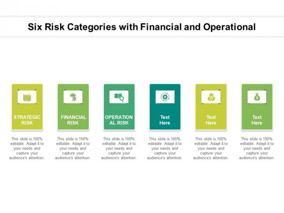 Six Risk Categories With Financial And Operational Ppt PowerPoint Presentation Portfolio Layouts PDF
