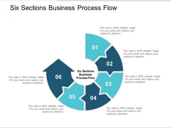 Six Sections Business Process Flow Ppt Powerpoint Presentation Professional Smartart