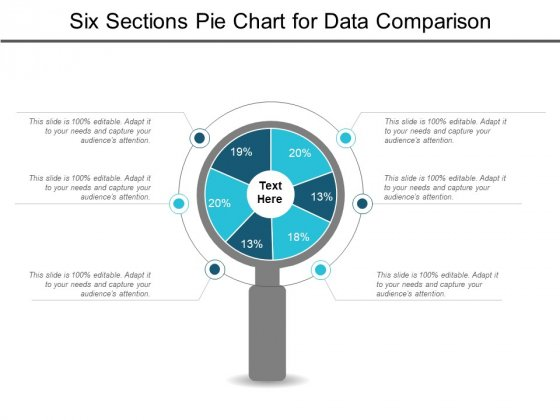 Six Sections Pie Chart For Data Comparison Ppt PowerPoint Presentation Styles Graphics Example