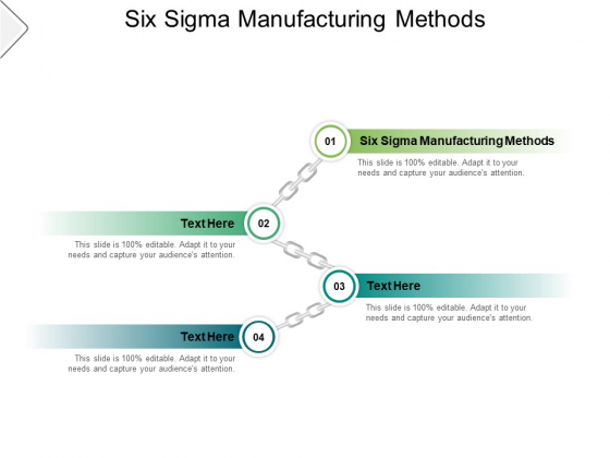 Six Sigma Manufacturing Methods Ppt PowerPoint Presentation Summary Graphics Pictures Cpb