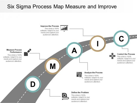Six Sigma Process Map Measure And Improve Ppt PowerPoint Presentation Styles Designs Download