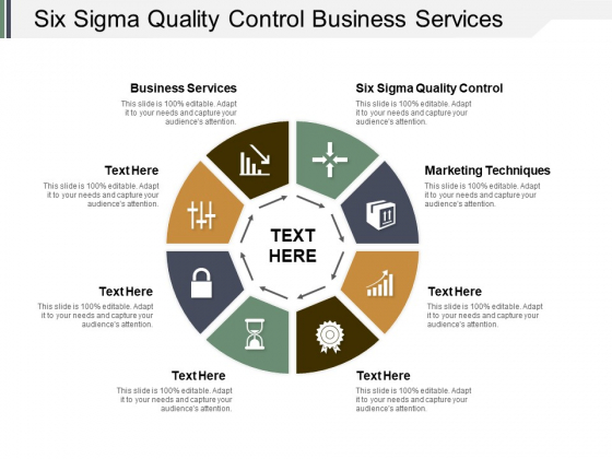 Six Sigma Quality Control Business Services Marketing Techniques Ppt PowerPoint Presentation Graphics