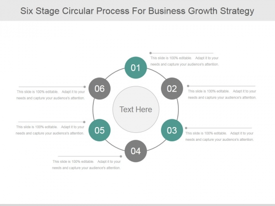 Six Stage Circular Process For Business Growth Strategy Ppt PowerPoint Presentation Layouts