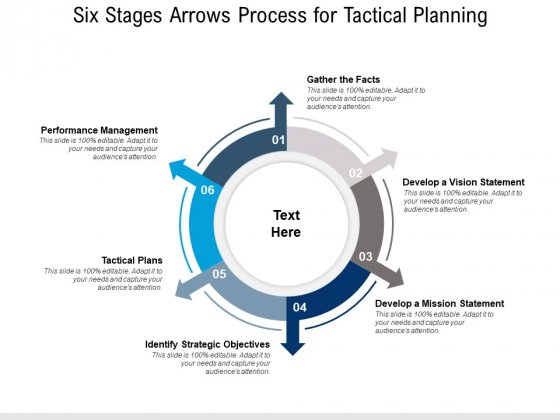 Six Stages Arrows Process For Tactical Planning Ppt PowerPoint Presentation Layouts Mockup