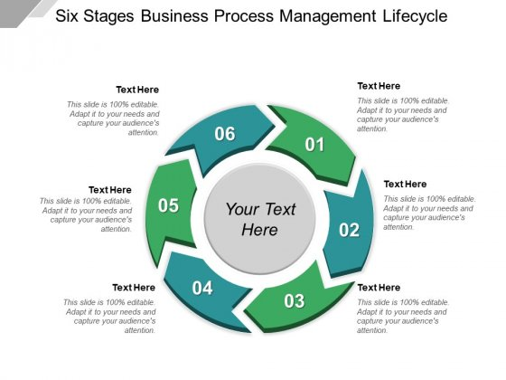 Six Stages Business Process Management Lifecycle Ppt PowerPoint Presentation Layouts Professional