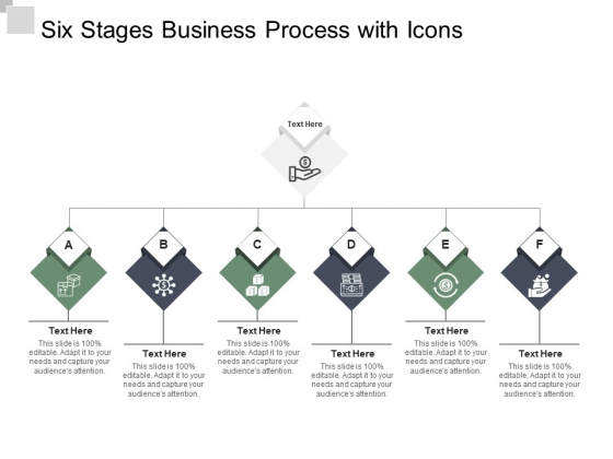 Six Stages Business Process With Icons Ppt PowerPoint Presentation Icon Format