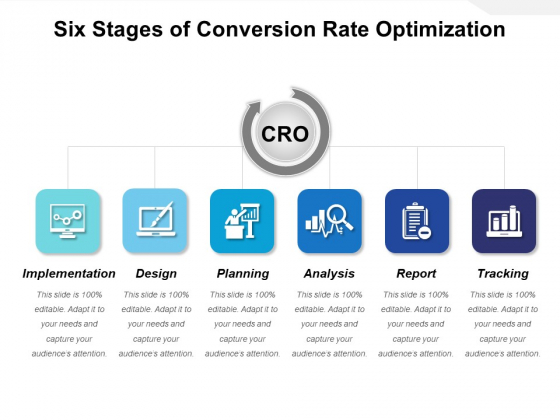 Six Stages Of Conversion Rate Optimization Ppt PowerPoint Presentation Professional Information PDF