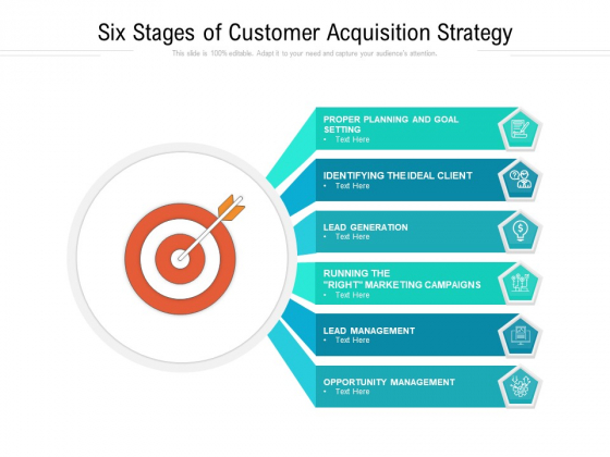 Six Stages Of Customer Acquisition Strategy Ppt PowerPoint Presentation Summary Slide PDF