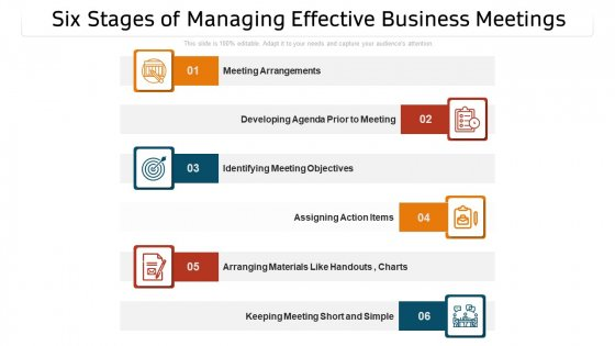 Six_Stages_Of_Managing_Effective_Business_Meetings_Ppt_PowerPoint_Presentation_Gallery_Templates_PDF_Slide_1