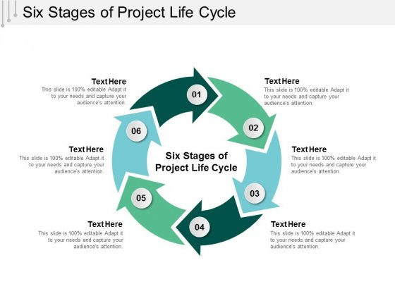 Six Stages Of Project Life Cycle Ppt Powerpoint Presentation Professional Templates