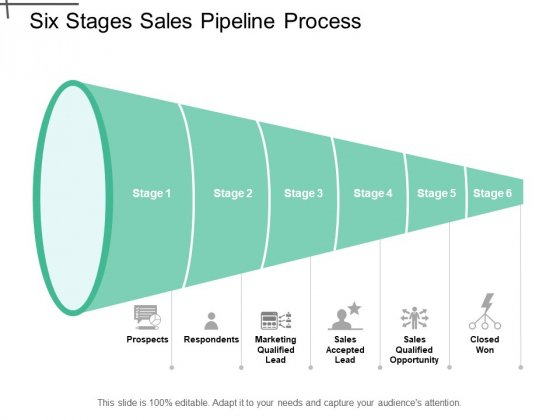 Six Stages Sales Pipeline Process Ppt PowerPoint Presentation Gallery Graphic Images