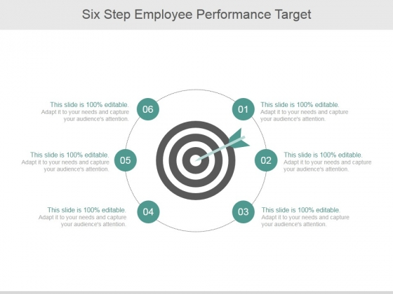 Six Step Employee Performance Target Ppt PowerPoint Presentation Professional