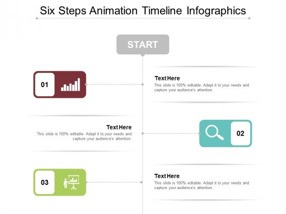 Six Steps Animation Timeline Infographics Ppt Powerpoint