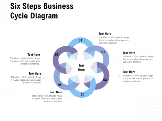 Six Steps Business Cycle Diagram Ppt PowerPoint Presentation Layouts File Formats