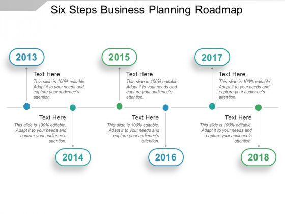 Six Steps Business Planning Roadmap Ppt PowerPoint Presentation Slides Icons