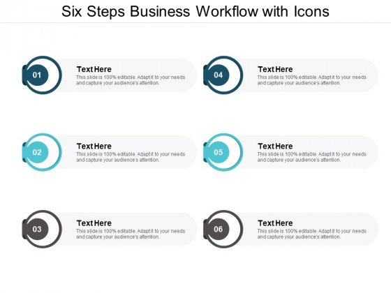 Six Steps Business Workflow With Icons Ppt PowerPoint Presentation Portfolio Example Introduction