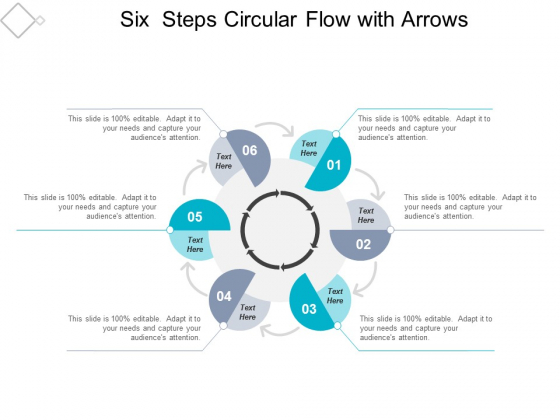 Six Steps Circular Flow With Arrows Ppt Powerpoint Presentation Infographics Good