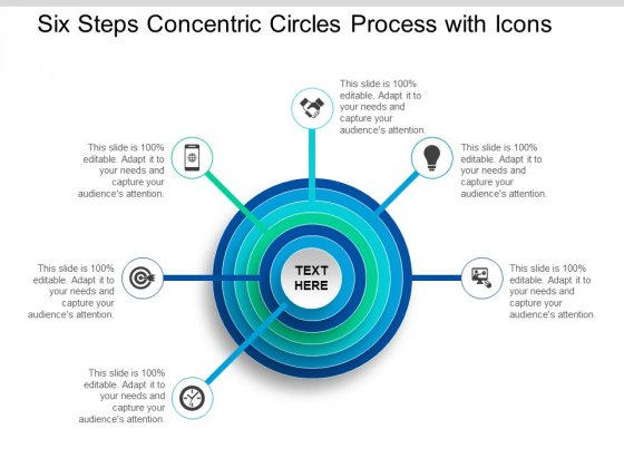 Six Steps Concentric Circles Process With Icons Ppt Powerpoint Presentation Slide Download